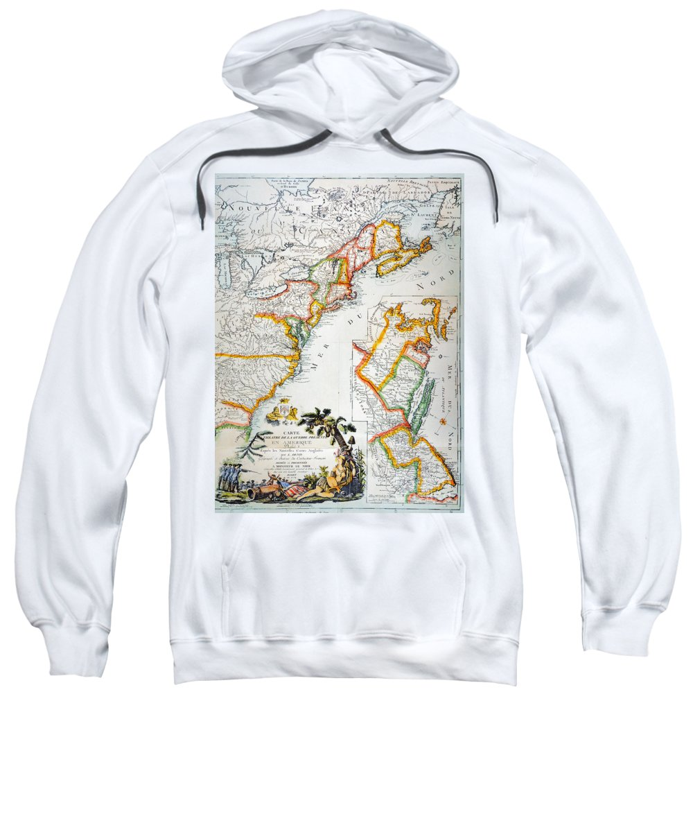 1779 Sweatshirt featuring the photograph Map Of America, 1779 by Granger