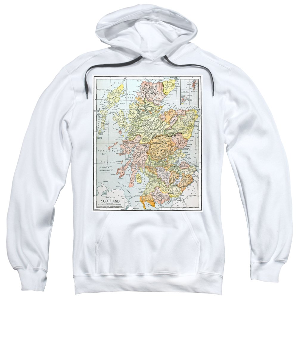 19th Century Sweatshirt featuring the photograph Map: Scotland by Granger