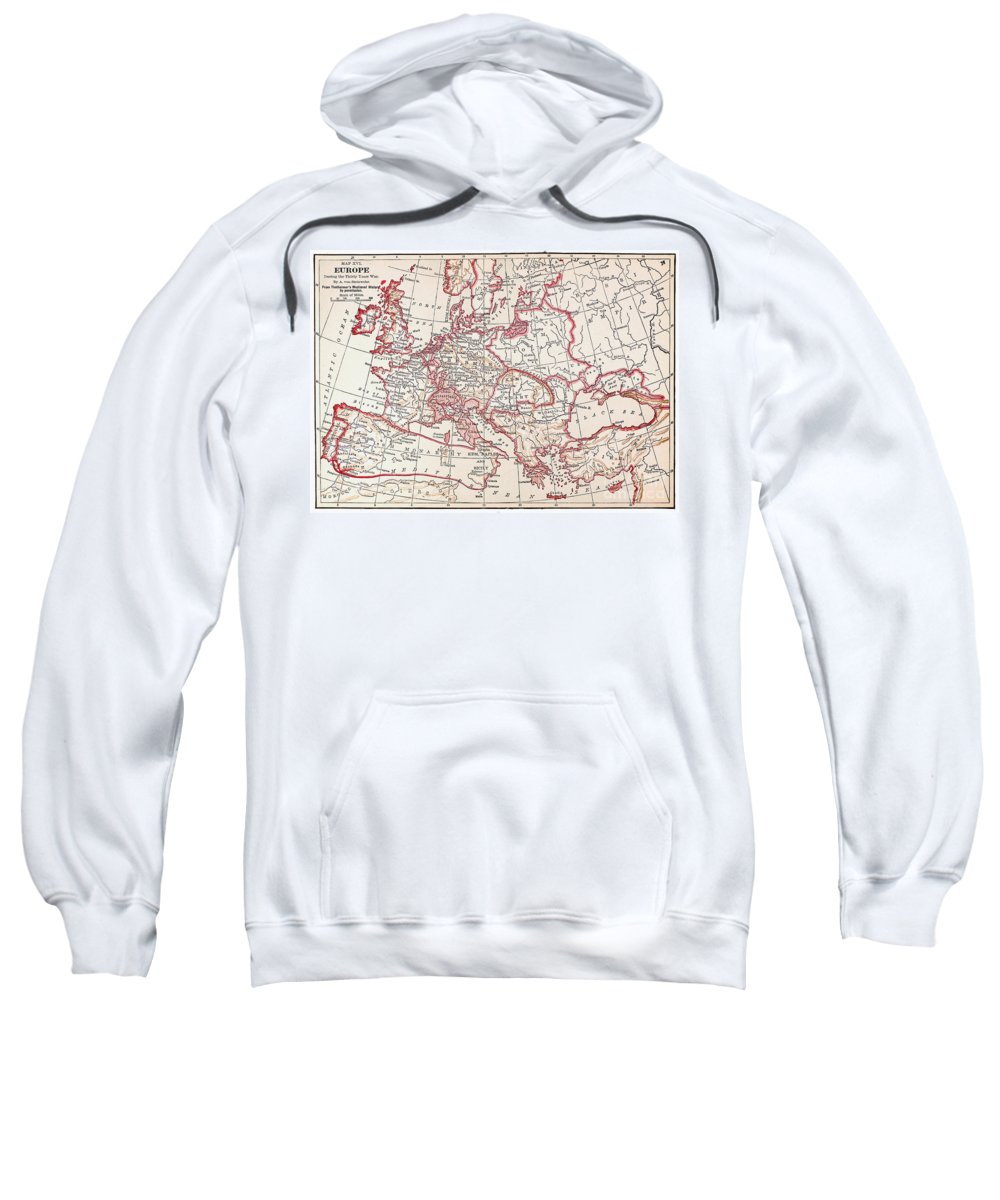 Engraving Sweatshirt featuring the photograph Map: Thirty Years War by Granger