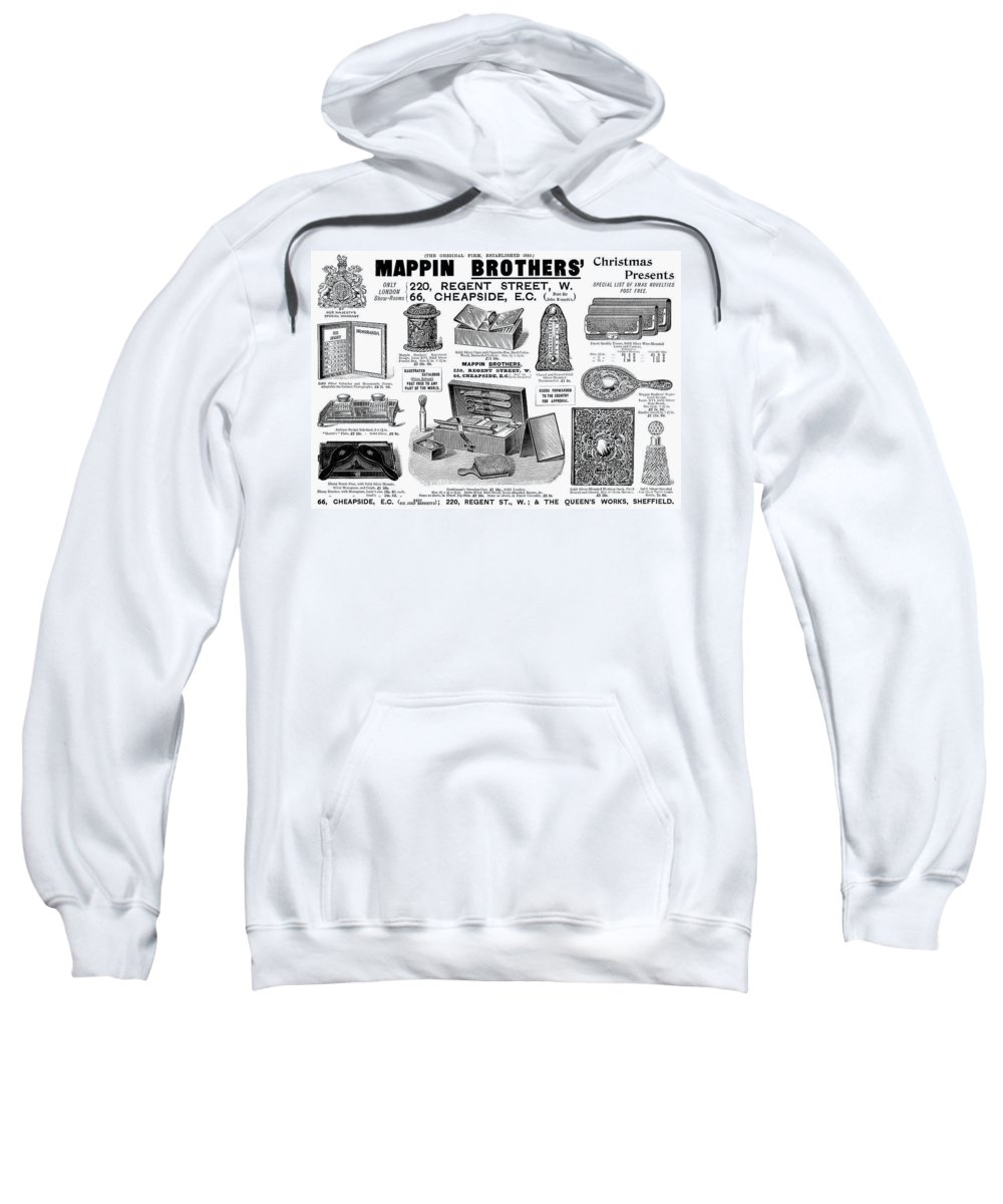 1895 Sweatshirt featuring the photograph Mappin Brothers Ad, 1895 by Granger
