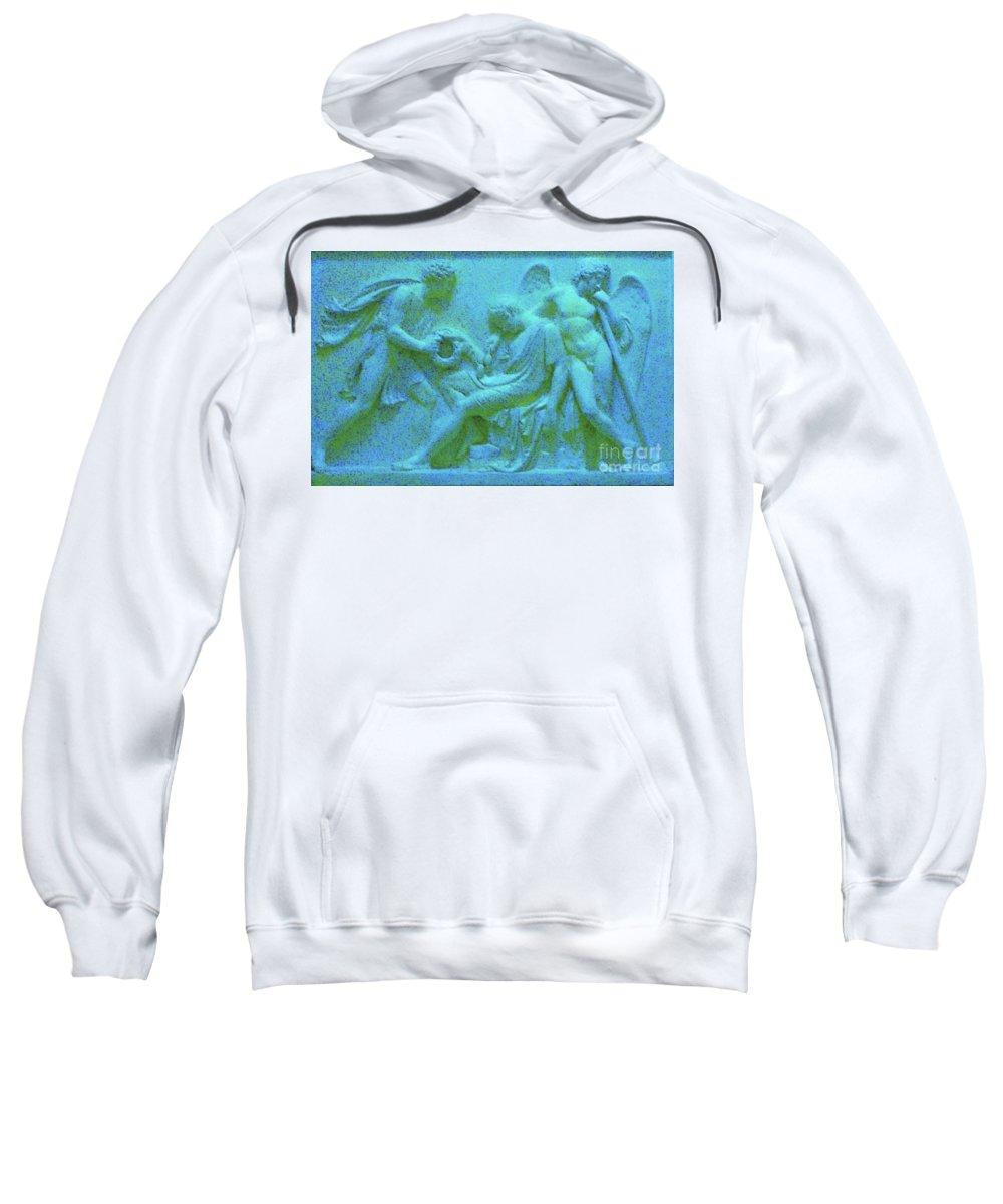 Angel Relief Sweatshirt featuring the photograph Marble Angel Relief by Leonore VanScheidt
