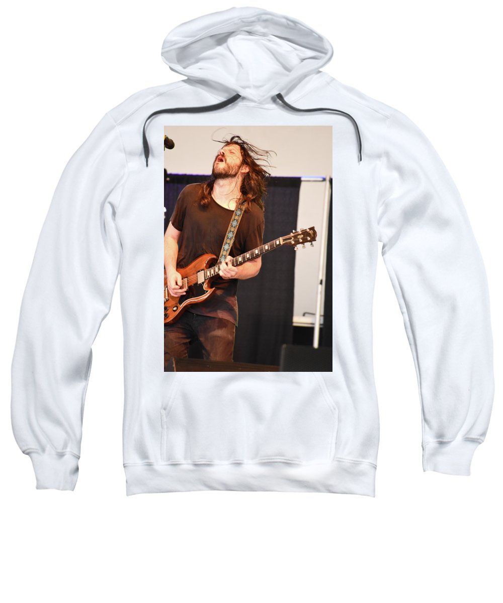 Music Sweatshirt featuring the photograph Marcus Of Ten Years After by Mike Martin