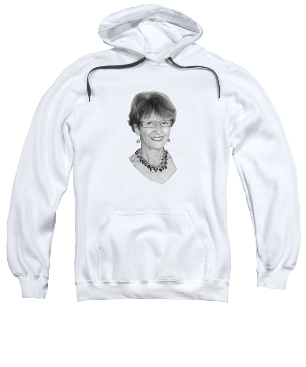 Portrait Sweatshirt featuring the drawing Margaret by Conrad Mieschke