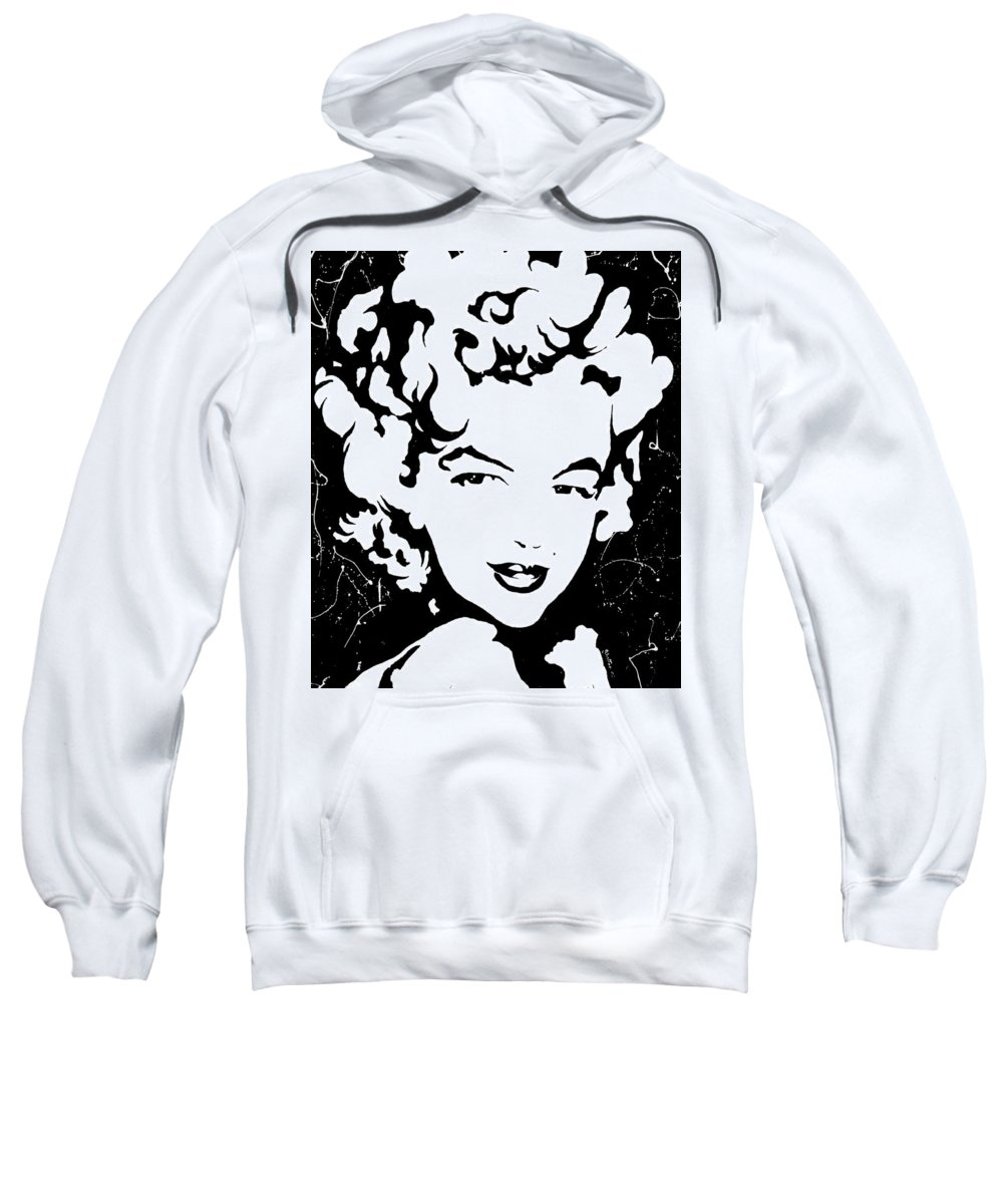 Portrait Sweatshirt featuring the painting Marilyn Monroe by Curtiss Shaffer