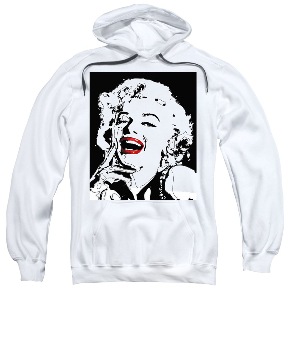 Actress Sweatshirt featuring the digital art Marilyn Monroe by Rabi Khan