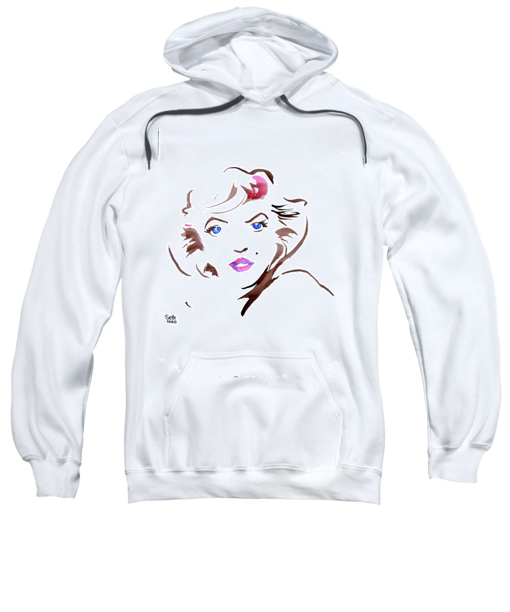 Marilyn Sweatshirt featuring the painting Marilyn by Seth Weaver