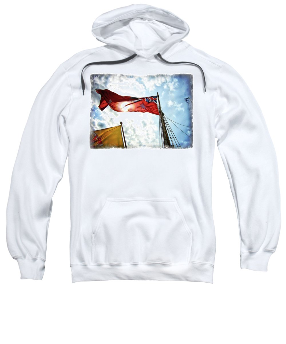 Australia Sweatshirt featuring the photograph Mariners Flag by Douglas Barnard