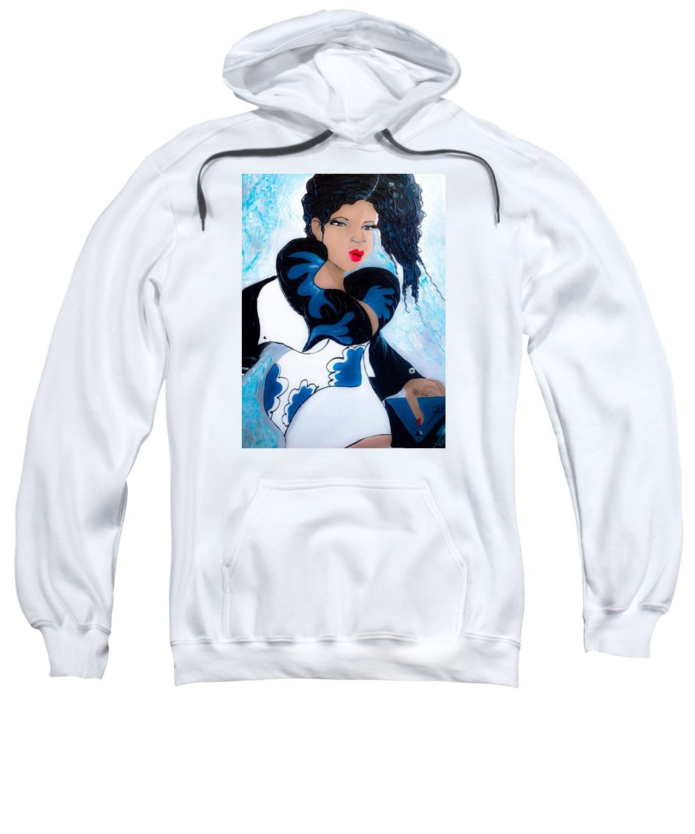 Latina Sweatshirt featuring the painting Marisol by Leticia Acevedo