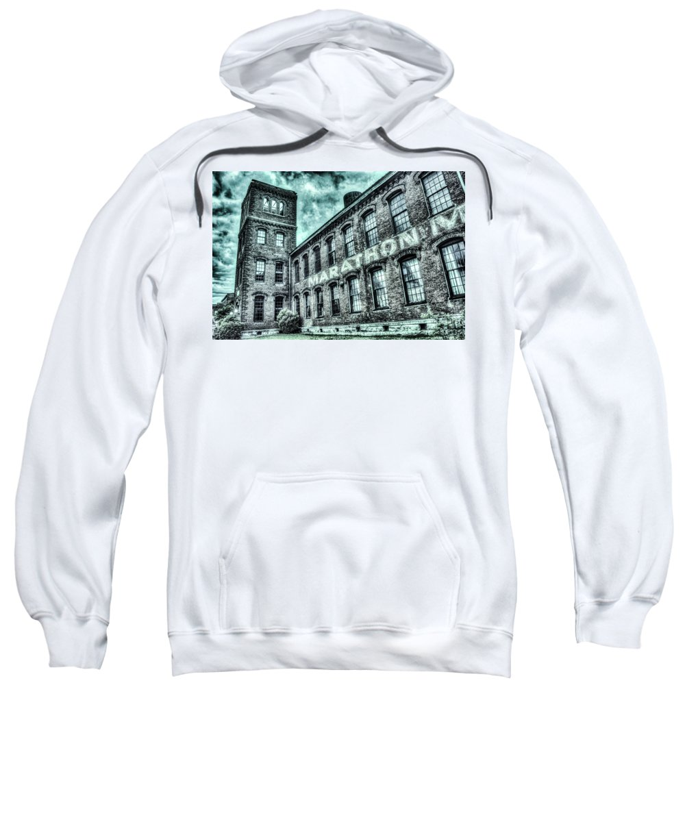 Marathon Sweatshirt featuring the photograph Marithon Car Manufacturing Facility In Nashville by Douglas Barnett