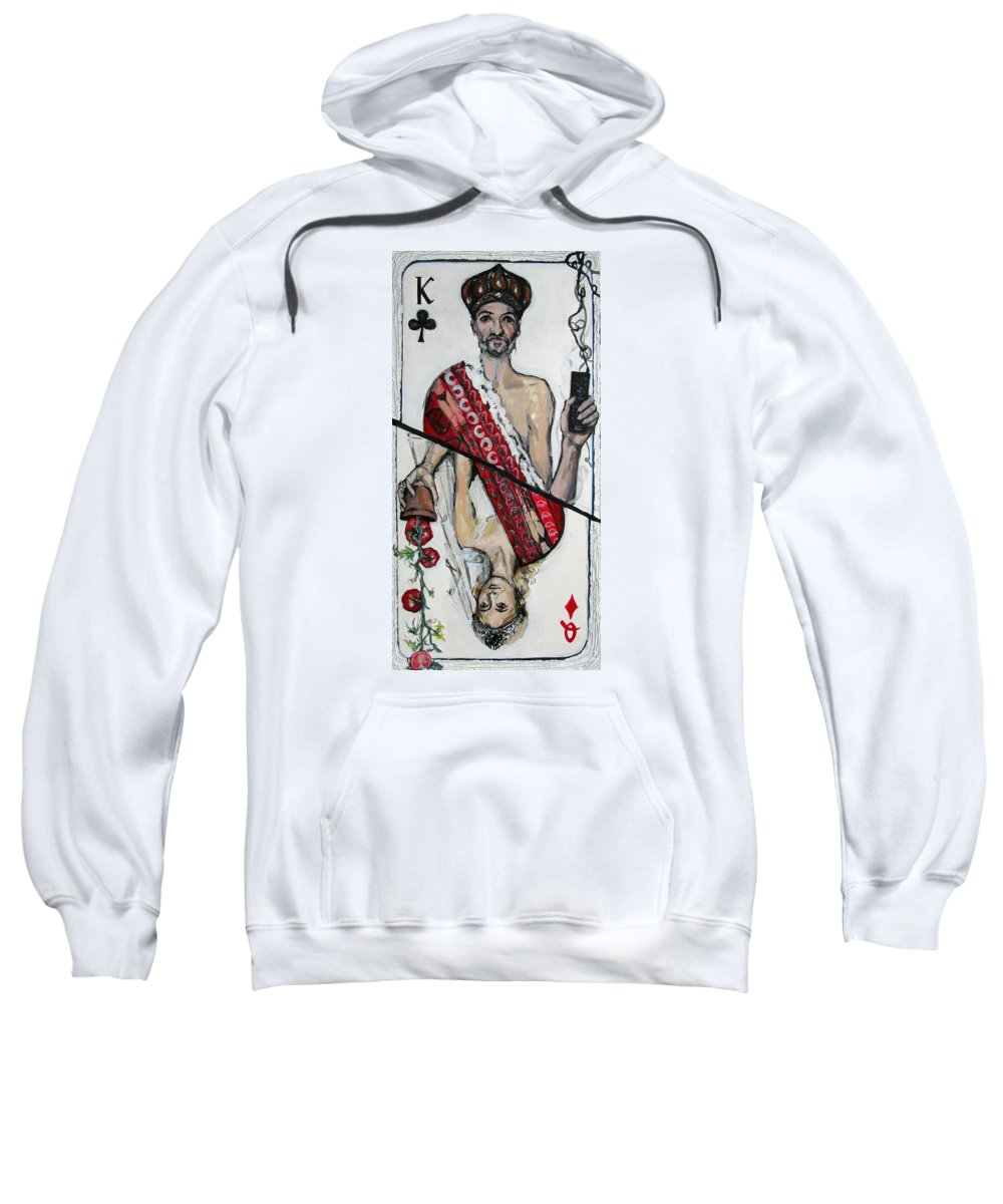 Marriage Sweatshirt featuring the painting Marriage by Mima Stajkovic