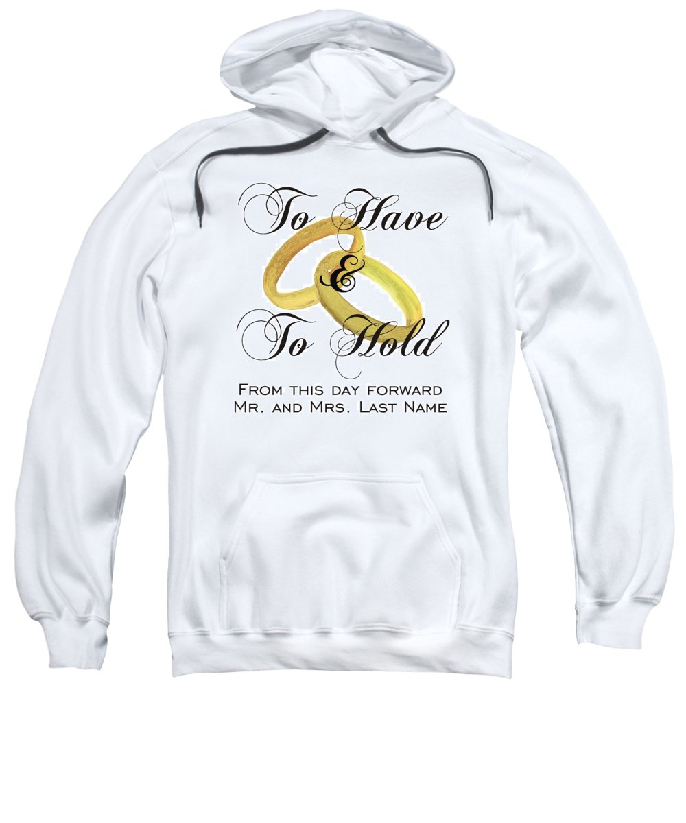 Marriage Vows Sweatshirt featuring the painting Marriage Vows by Priscilla Wolfe