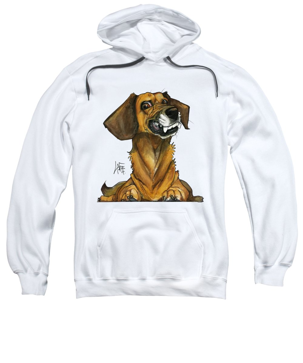 Dog Portrait Sweatshirt featuring the drawing Marshall 3178 by John LaFree