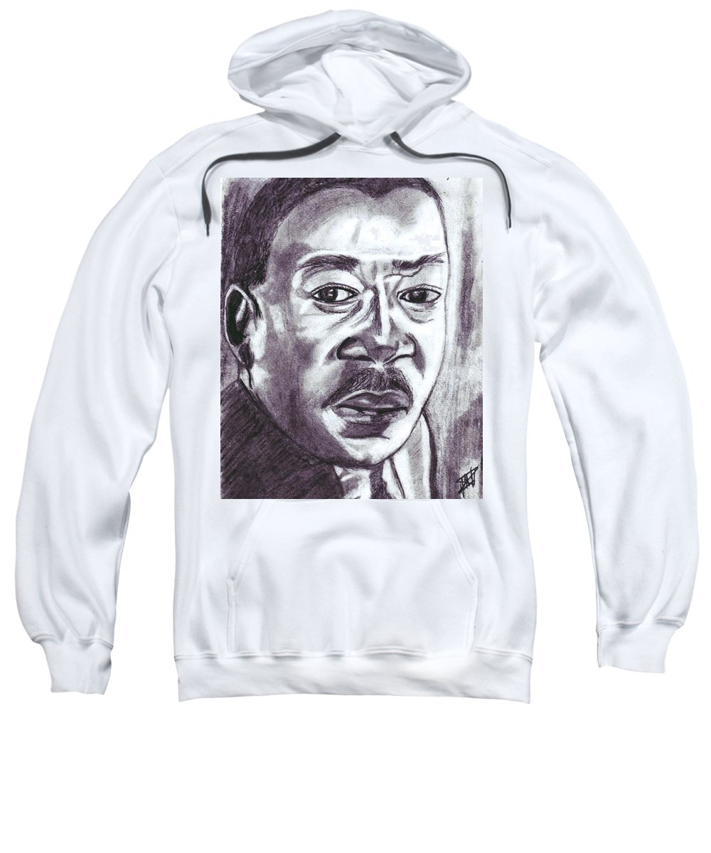 Negro Sweatshirt featuring the drawing Martin Luther King by Jo-Ann Hayden