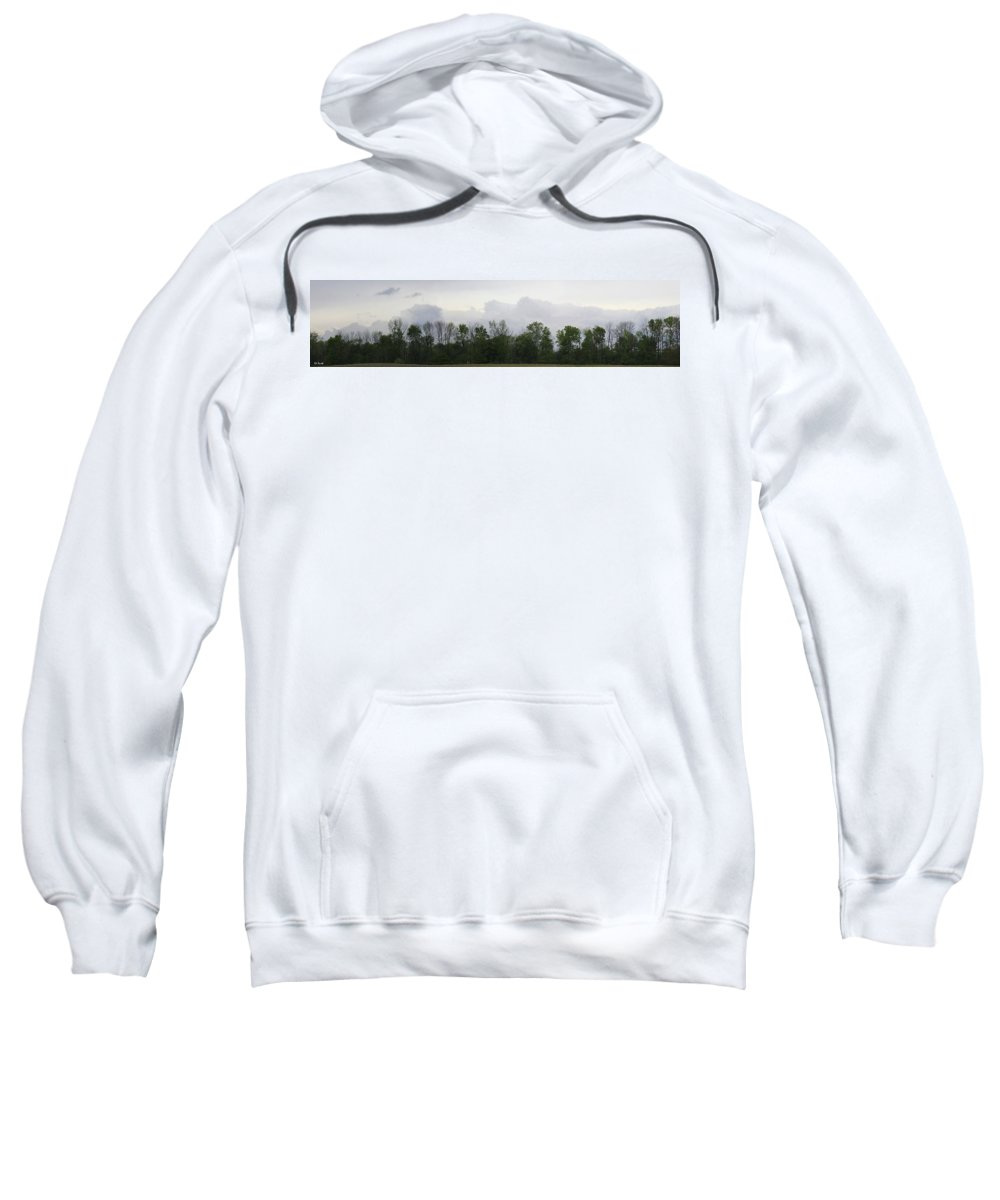 Matching Sky Lines Sweatshirt featuring the photograph Matching Sky Lines by Edward Smith