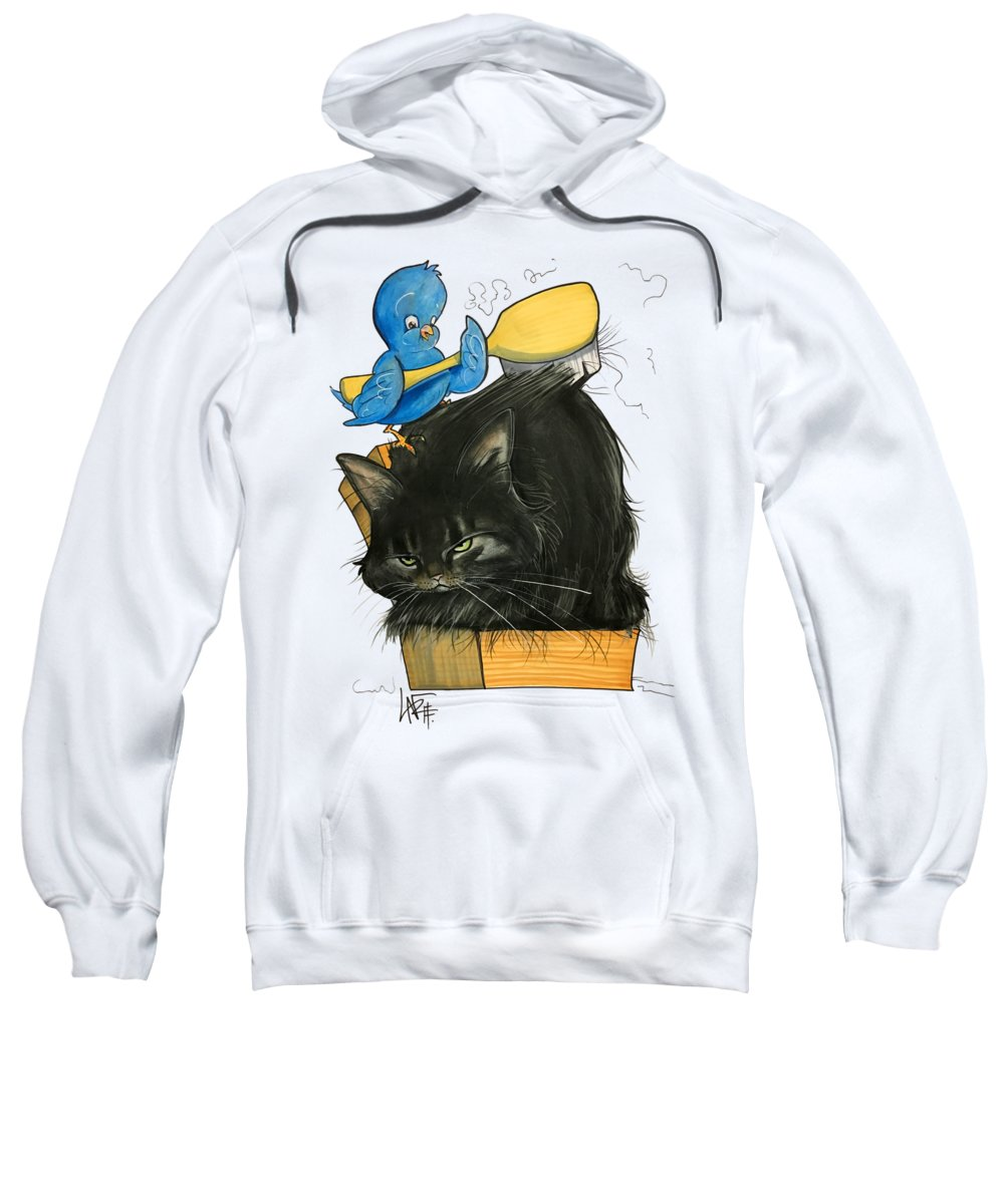 Pet Portrait Sweatshirt featuring the drawing Mathes 3213 by John LaFree
