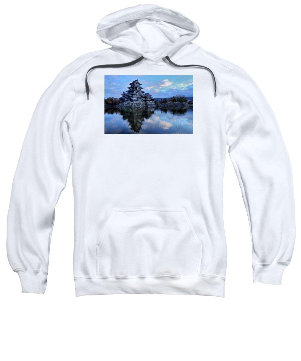 Japan Sweatshirt featuring the photograph Matsumoto Castle 1182 by Alex Sharp