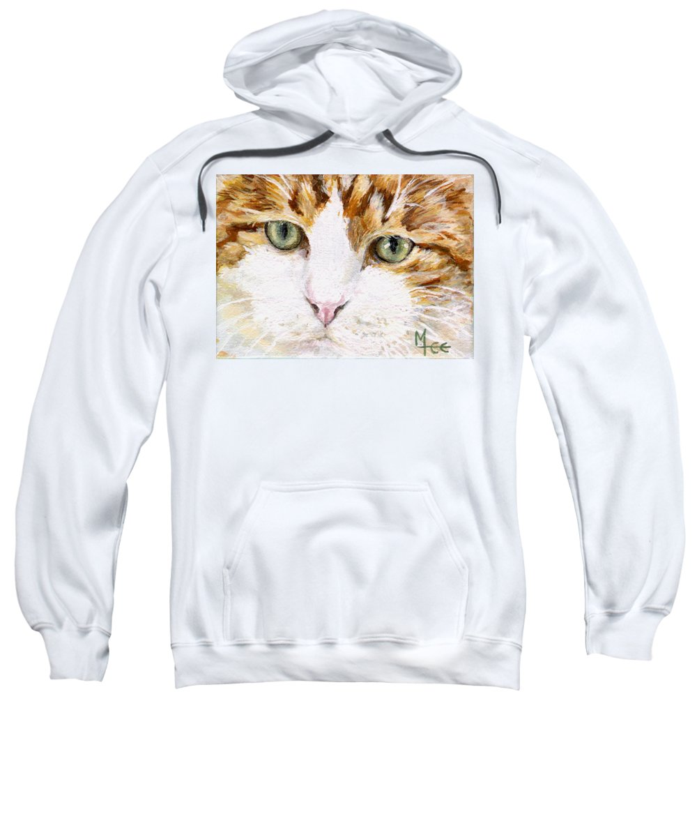 Charity Sweatshirt featuring the painting Max by Mary-Lee Sanders