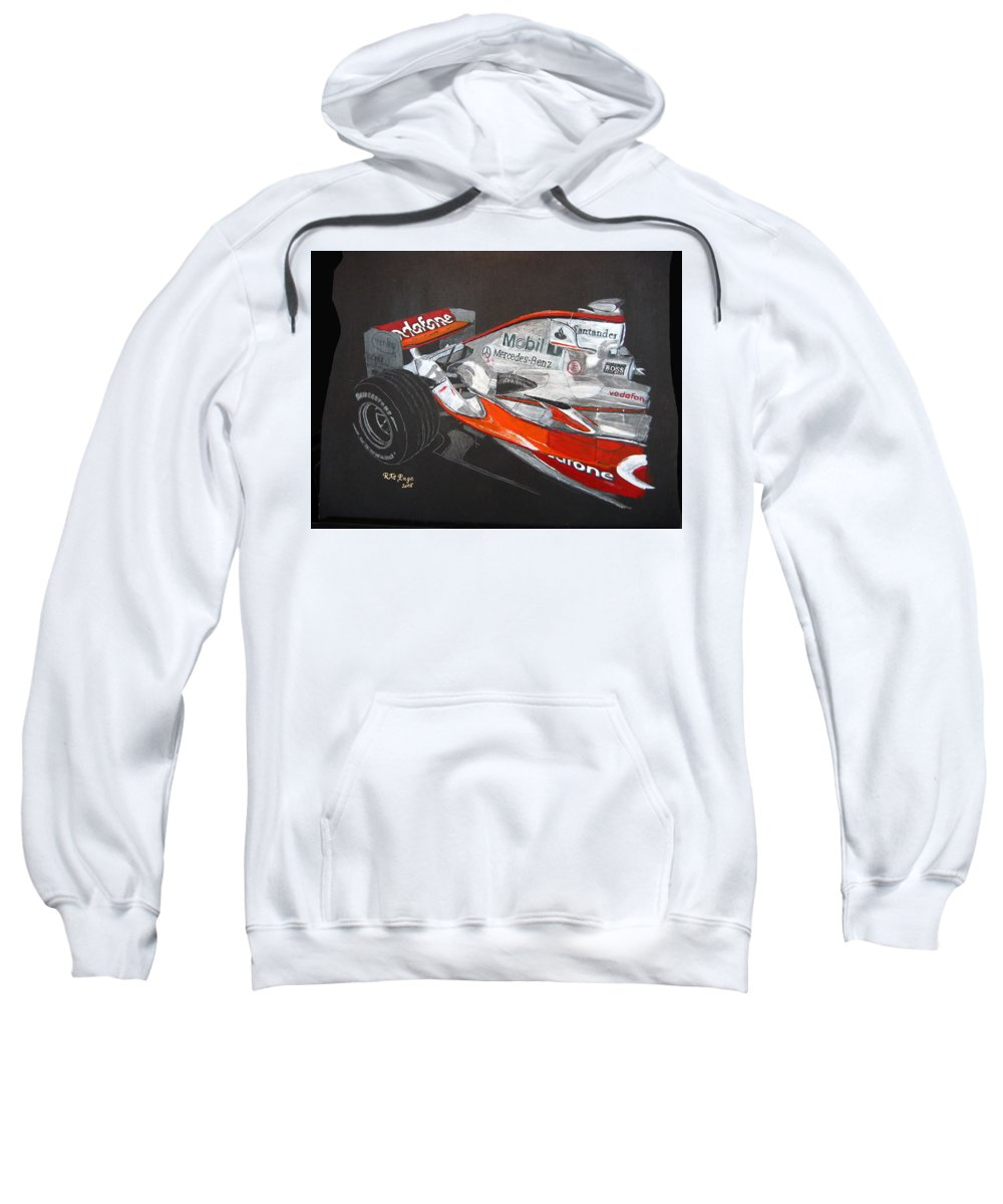 Mclaren Sweatshirt featuring the painting Mclaren F1 Alonso by Richard Le Page