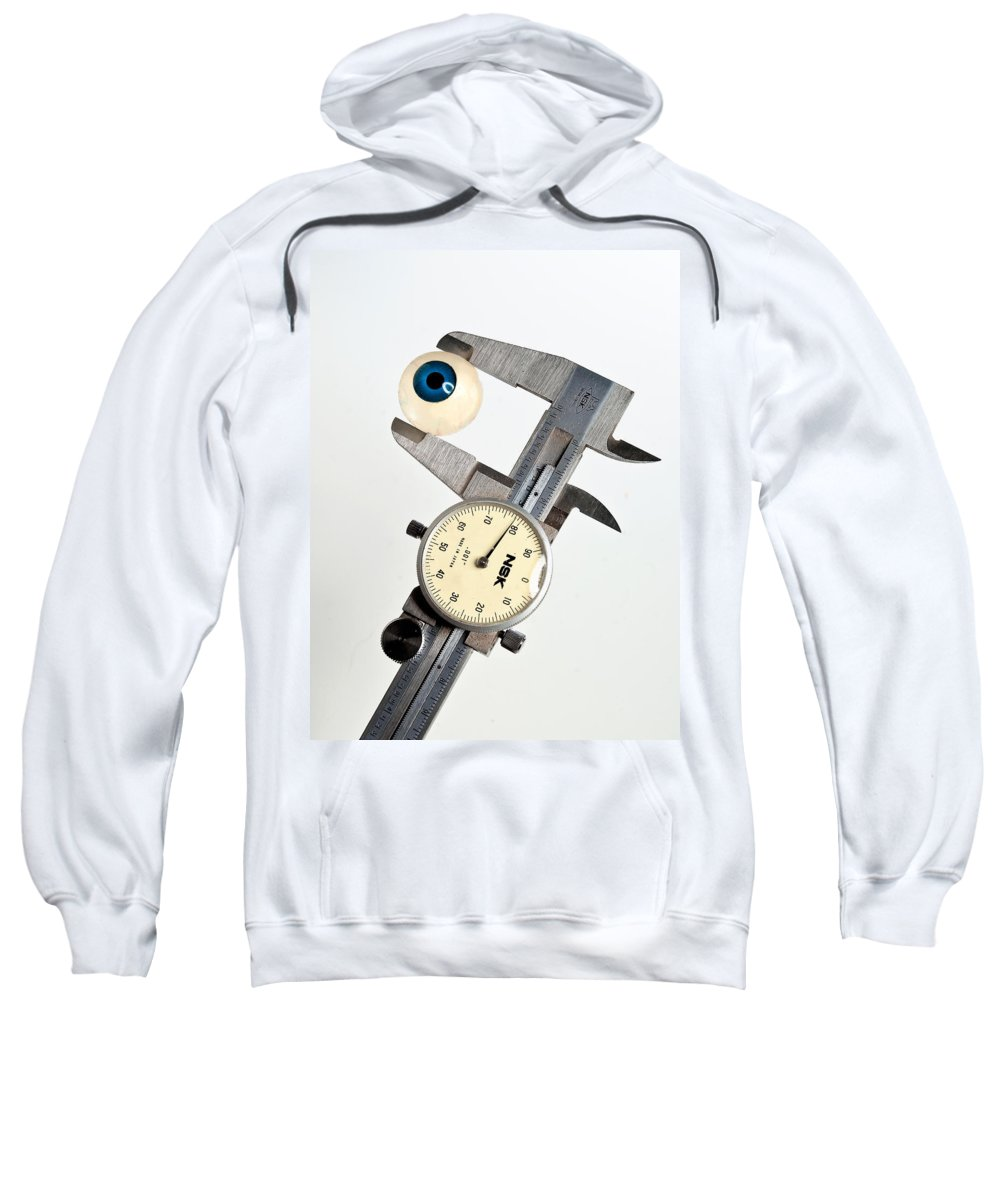 Measure Sweatshirt featuring the photograph Measuring By Eye by Rick Mosher