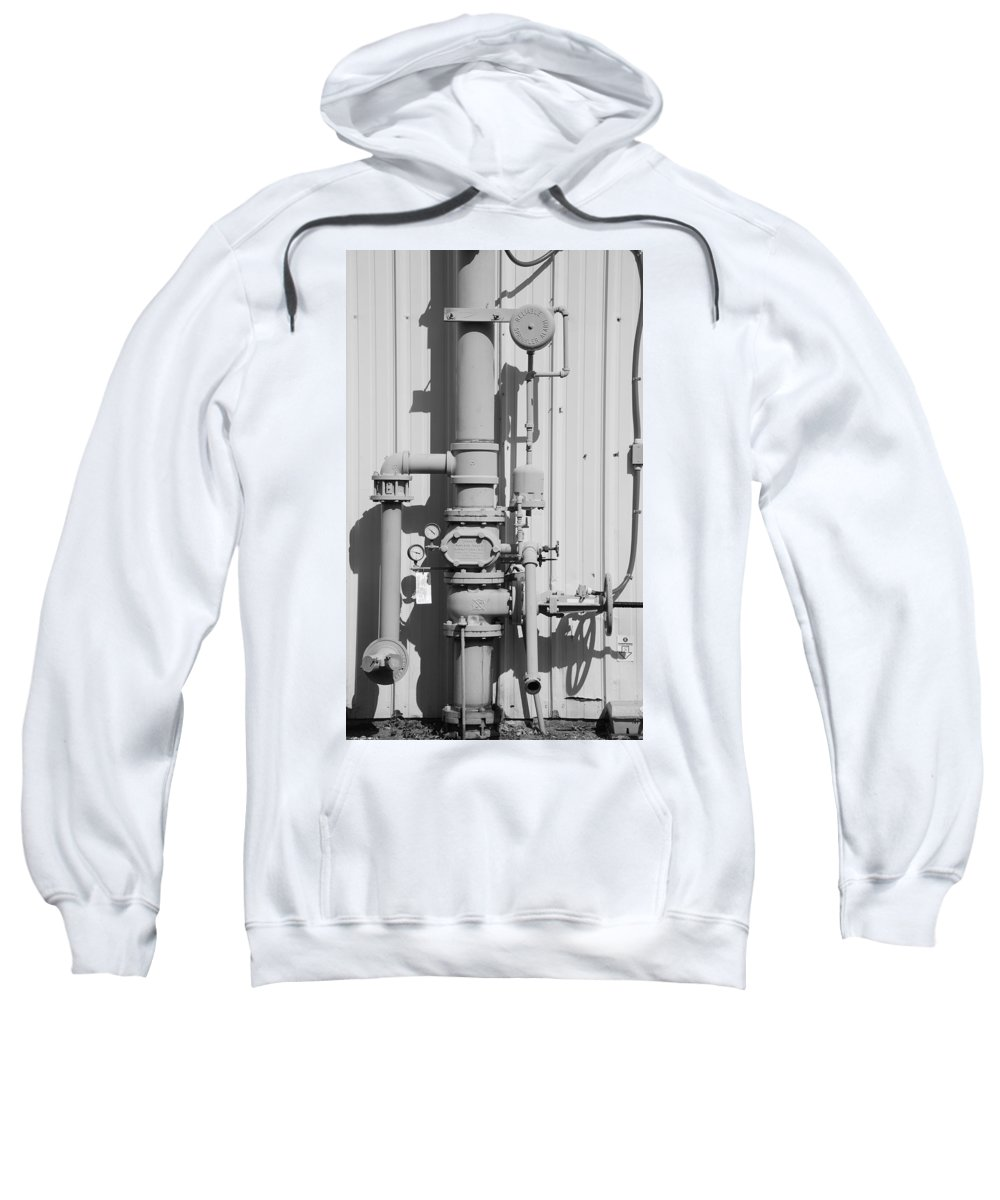Black And White Sweatshirt featuring the photograph Mechanical Doo Dad by Rob Hans