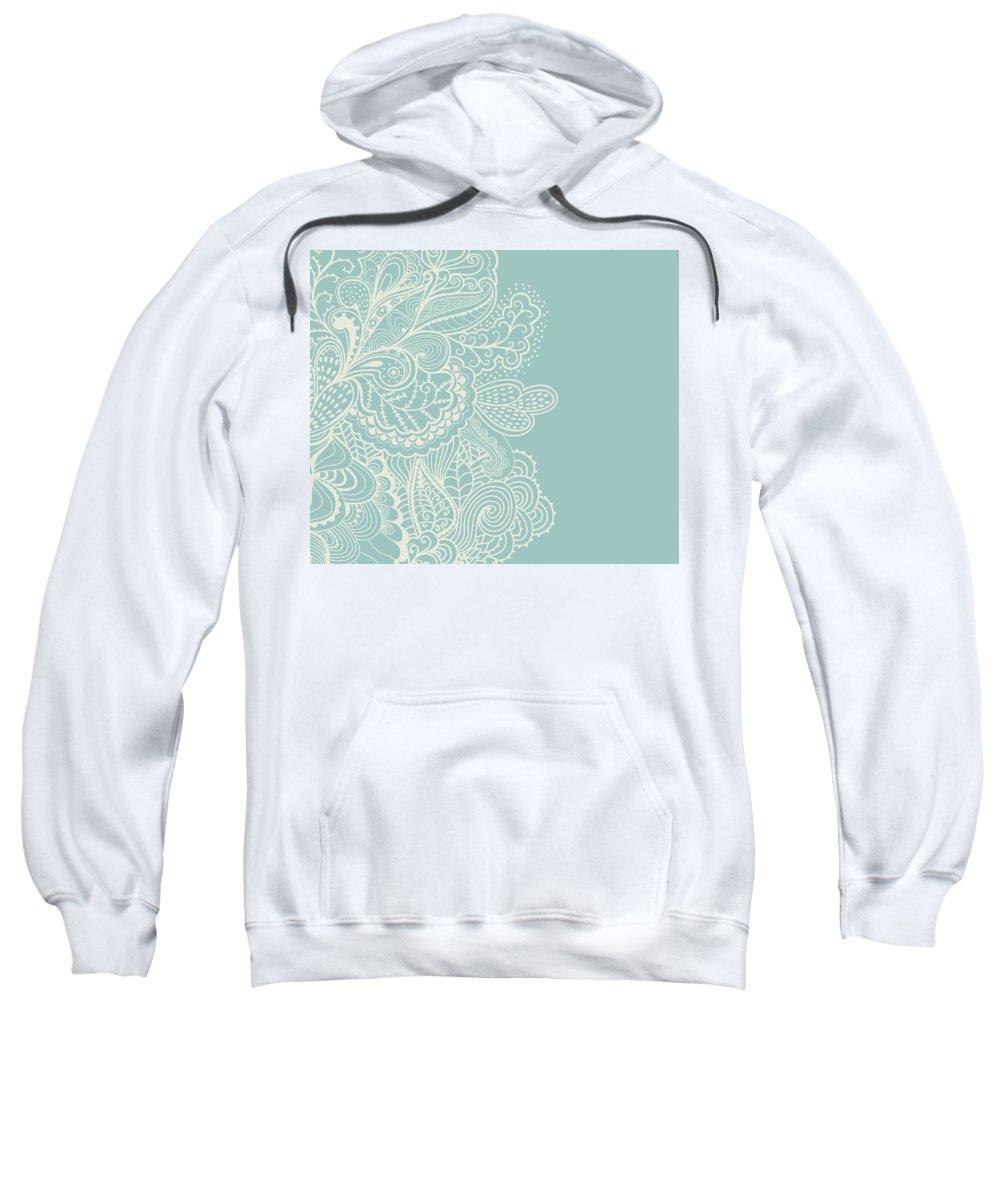Mehndi Sweatshirt featuring the digital art Mehndi by Susan Link