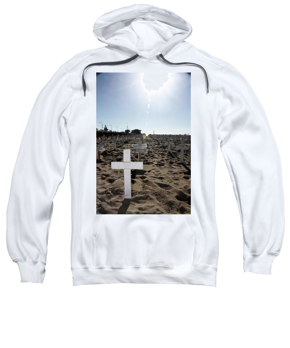 Scenic Sweatshirt featuring the photograph Memories On The Beach by Erin Rosenblum