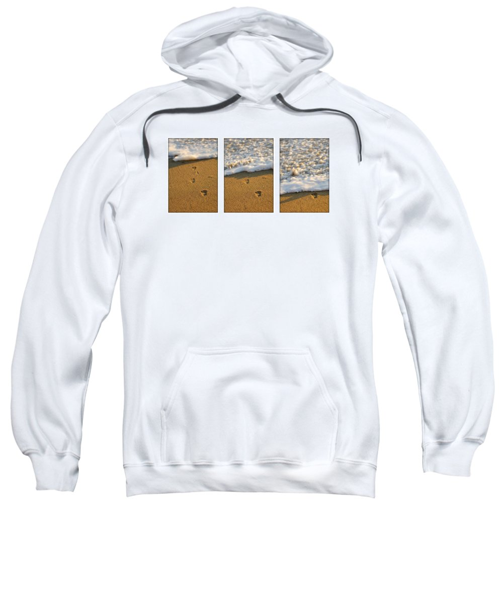 Beach Sweatshirt featuring the photograph Memories Washed Away by Jill Reger