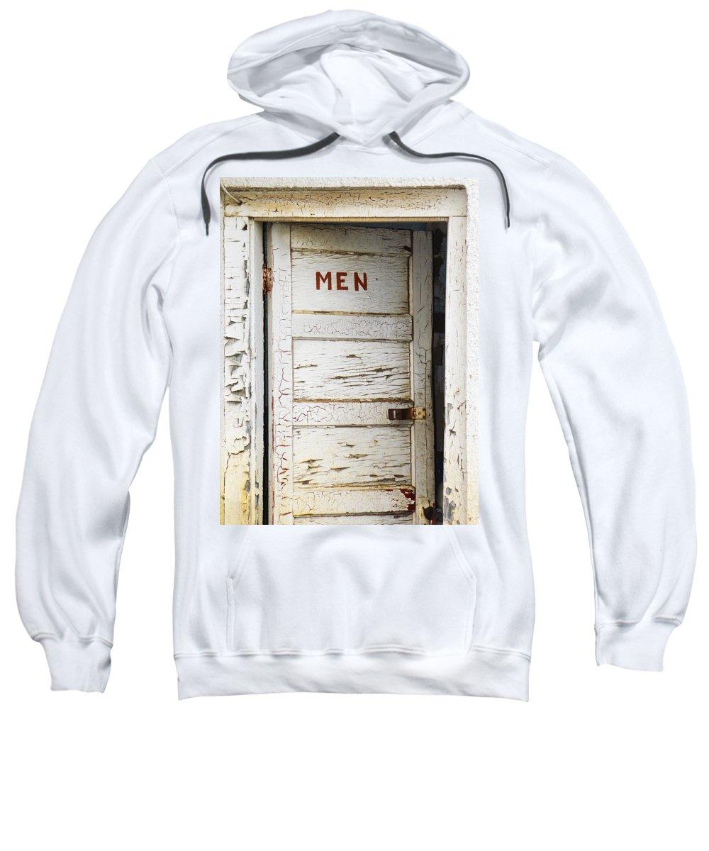 Men's Room Sweatshirt featuring the photograph Men's Room by Marilyn Hunt