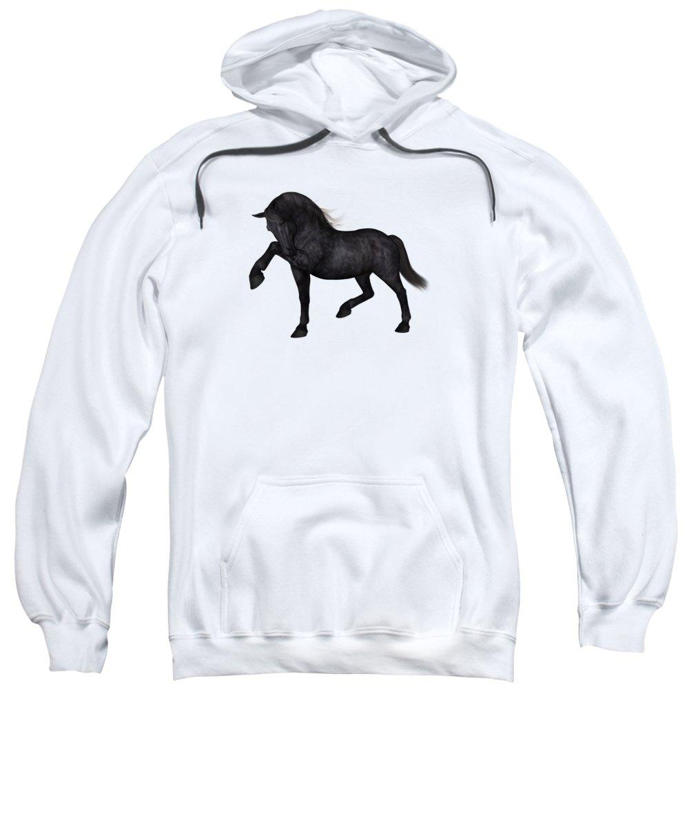 Horse Sweatshirt featuring the digital art Mentor by Betsy Knapp