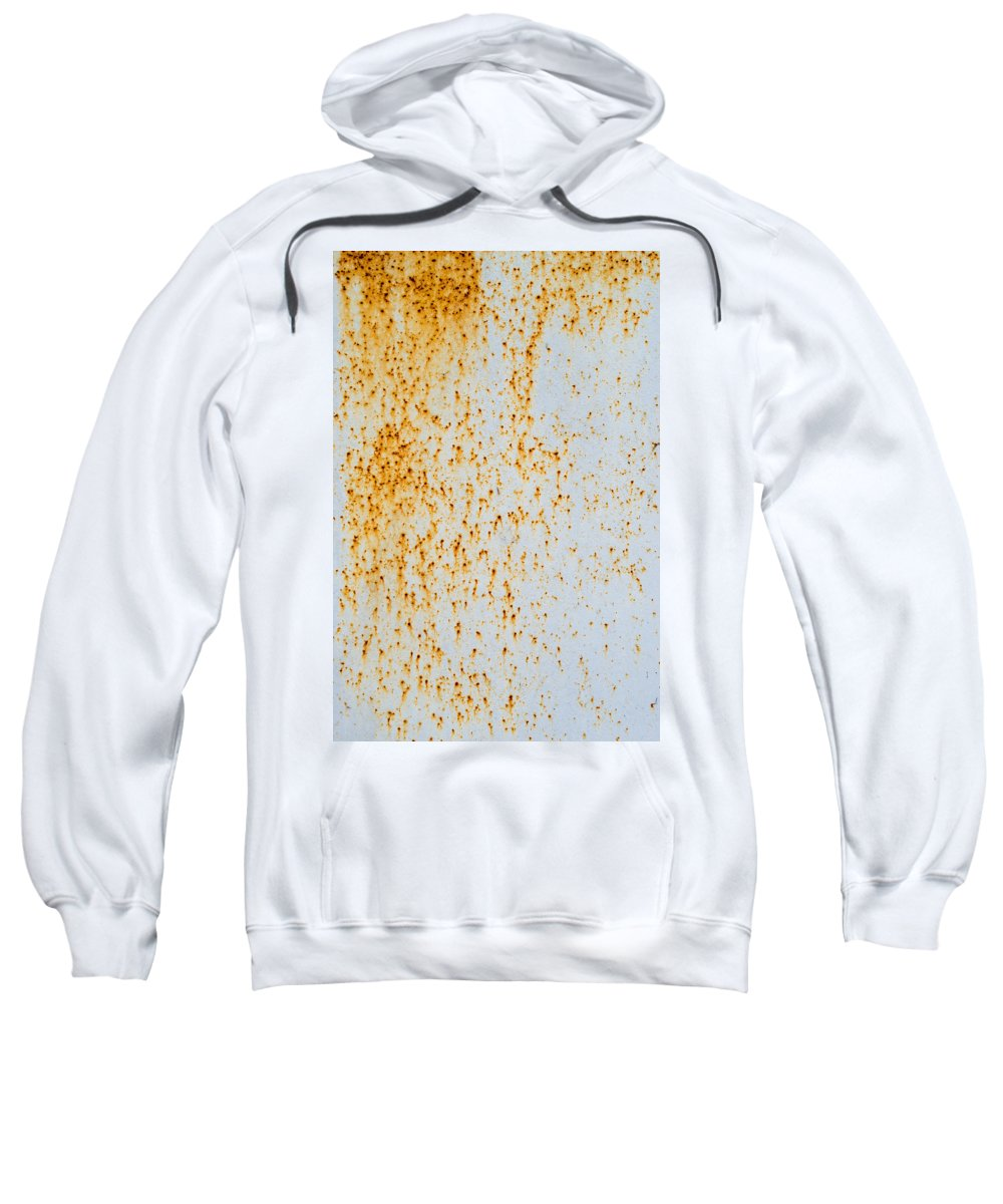 Abstract Sweatshirt featuring the photograph Metal Rust by John Williams