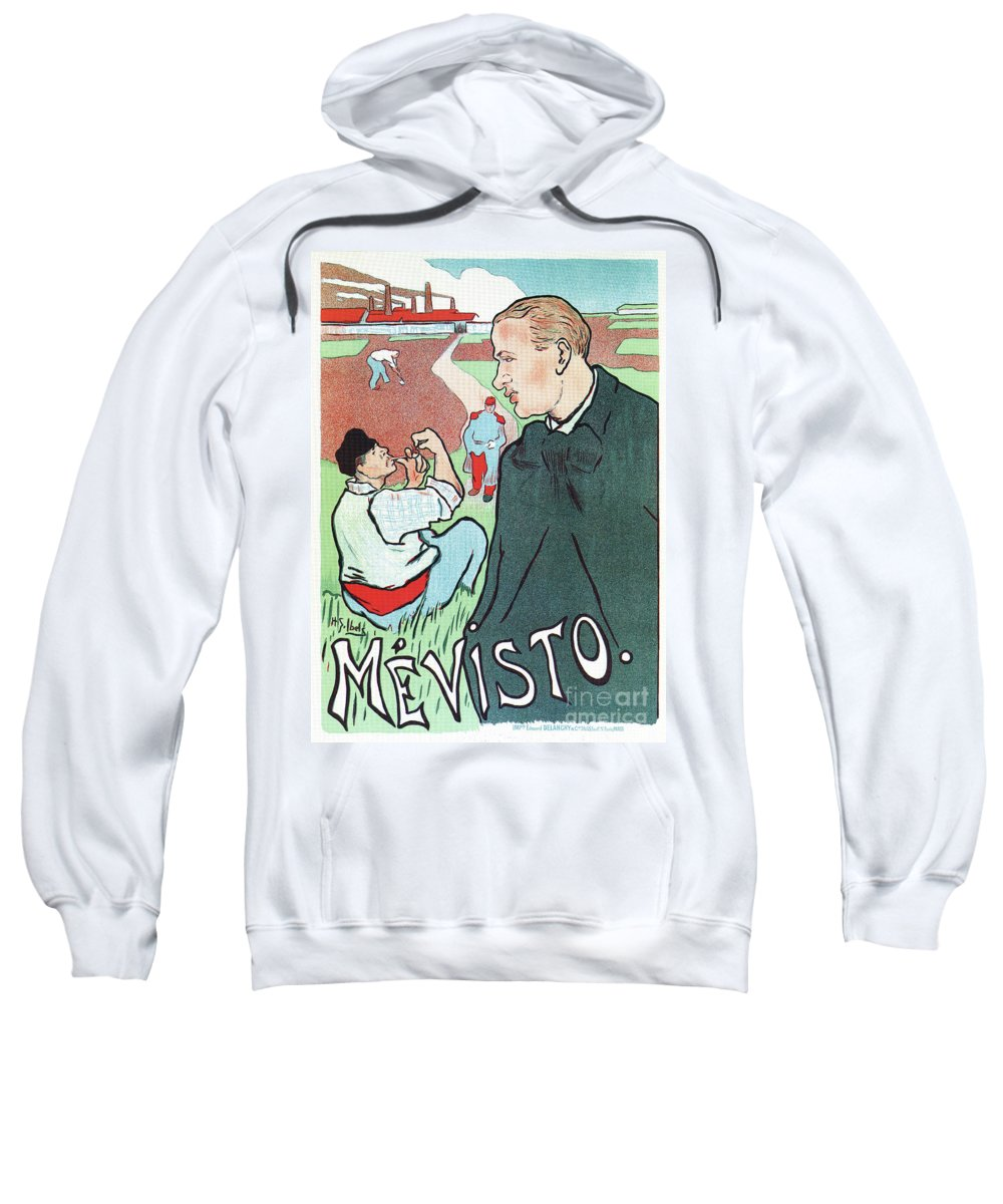 French Sweatshirt featuring the drawing Mevisto In The Country French Theatre Ad by Aapshop