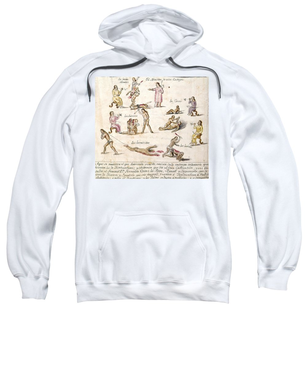 1750 Sweatshirt featuring the photograph Mexico: Indian Punishments by Granger
