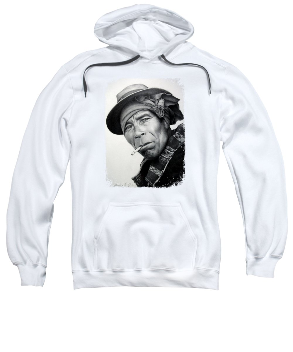 Mexican Sweatshirt featuring the drawing Mexico by Miro Gradinscak