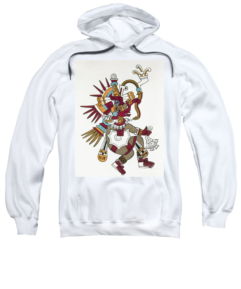 1500 Sweatshirt featuring the photograph Mexico: Quetzalcoatl by Granger