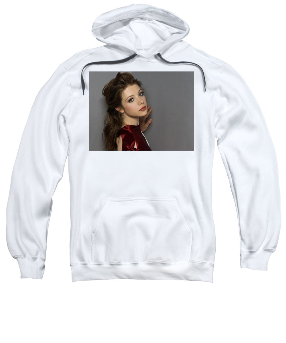 Michelle Trachtenberg Sweatshirt featuring the digital art Michelle Trachtenberg by Bert Mailer