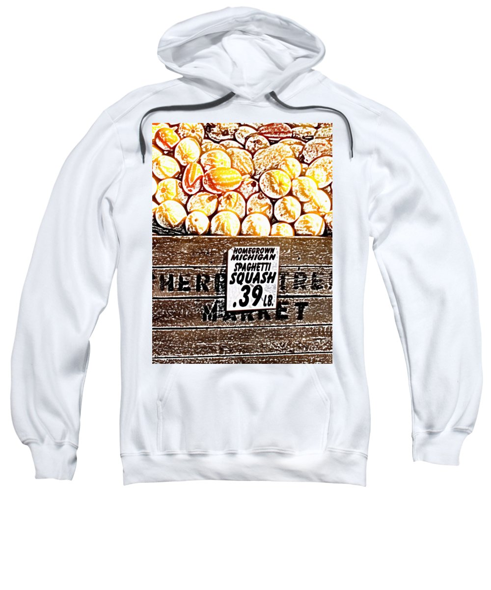 Altered Sweatshirt featuring the photograph Michigan Squash For Sale by Wayne Potrafka