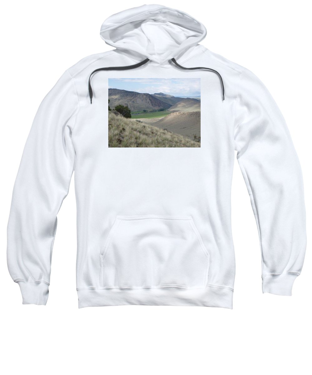 Landscape Sweatshirt featuring the photograph Middle Ground by Mary Lynne Crispo