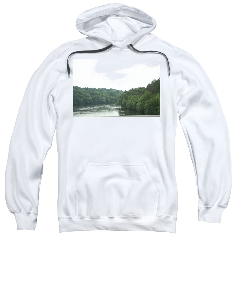 Photo Sweatshirt featuring the photograph Mighty Merrimack River by Barbara S Nickerson