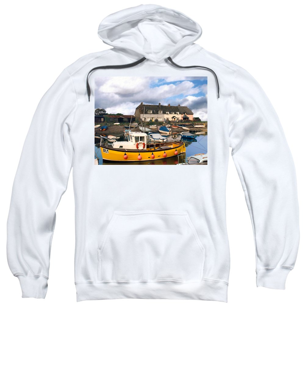 Harbor Sweatshirt featuring the photograph Minehead Sommerset by Kurt Van Wagner