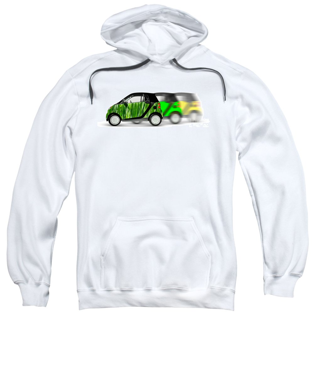 Smart Sweatshirt featuring the photograph Mini Cars by Oleksiy Maksymenko