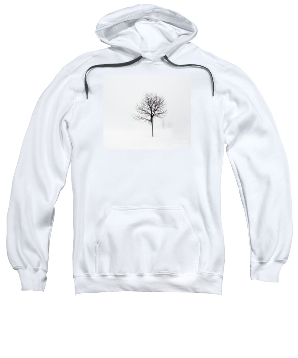 Winter Sweatshirt featuring the photograph Minimum Visibility by Angela King-Jones