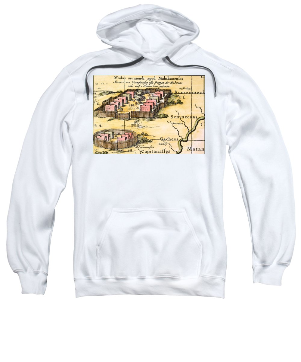 1650s Sweatshirt featuring the photograph Minisink Village, 1650s by Granger