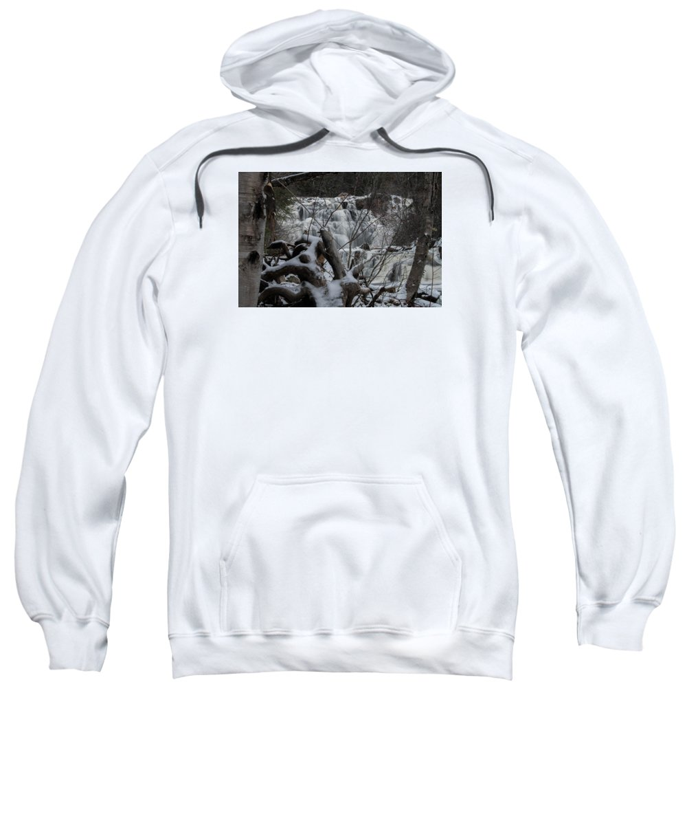 Mink Falls Sweatshirt featuring the photograph Mink Falls - The Hideaway by Tim Beebe