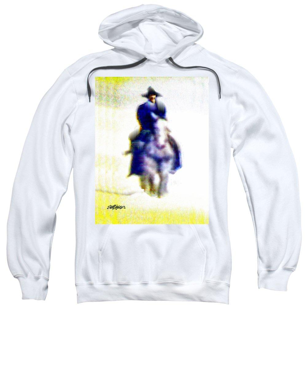 Desert Sweatshirt featuring the digital art Mirage Rider by Seth Weaver
