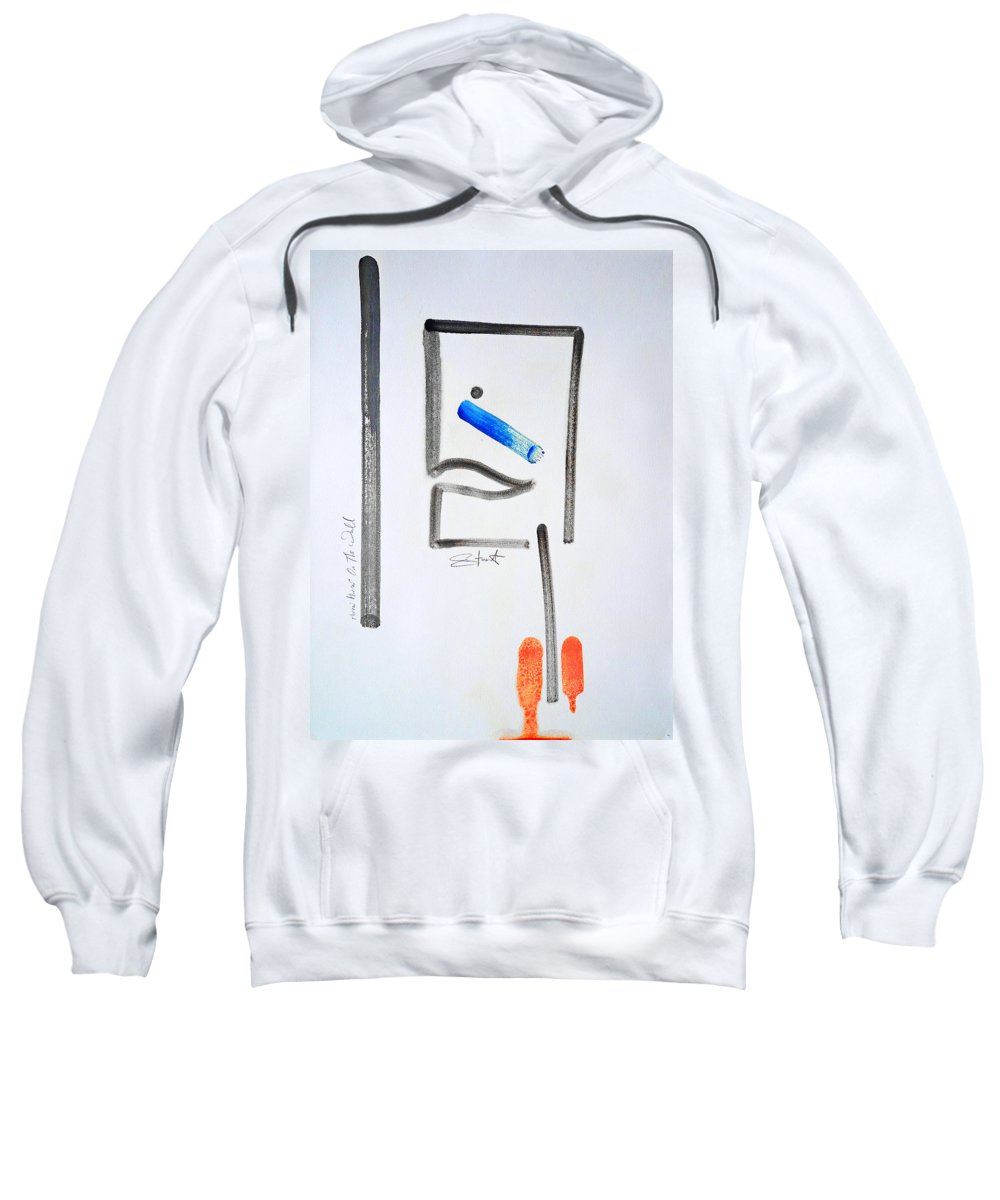 Drawing Sweatshirt featuring the painting Mirror Mirror On The Wall by Charles Stuart