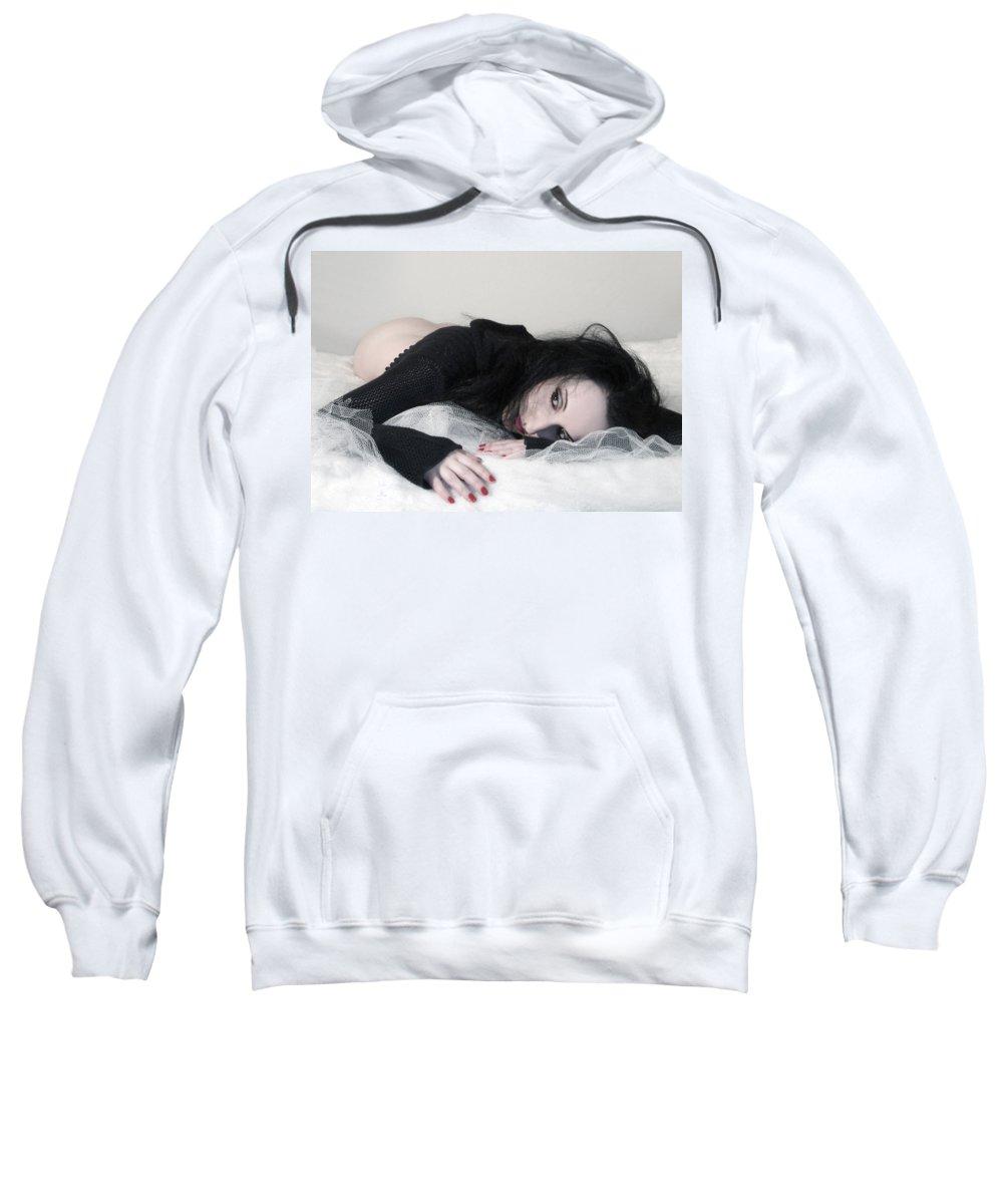 Beautiful Sweatshirt featuring the photograph Missing Him - Self Portrait by Jaeda DeWalt