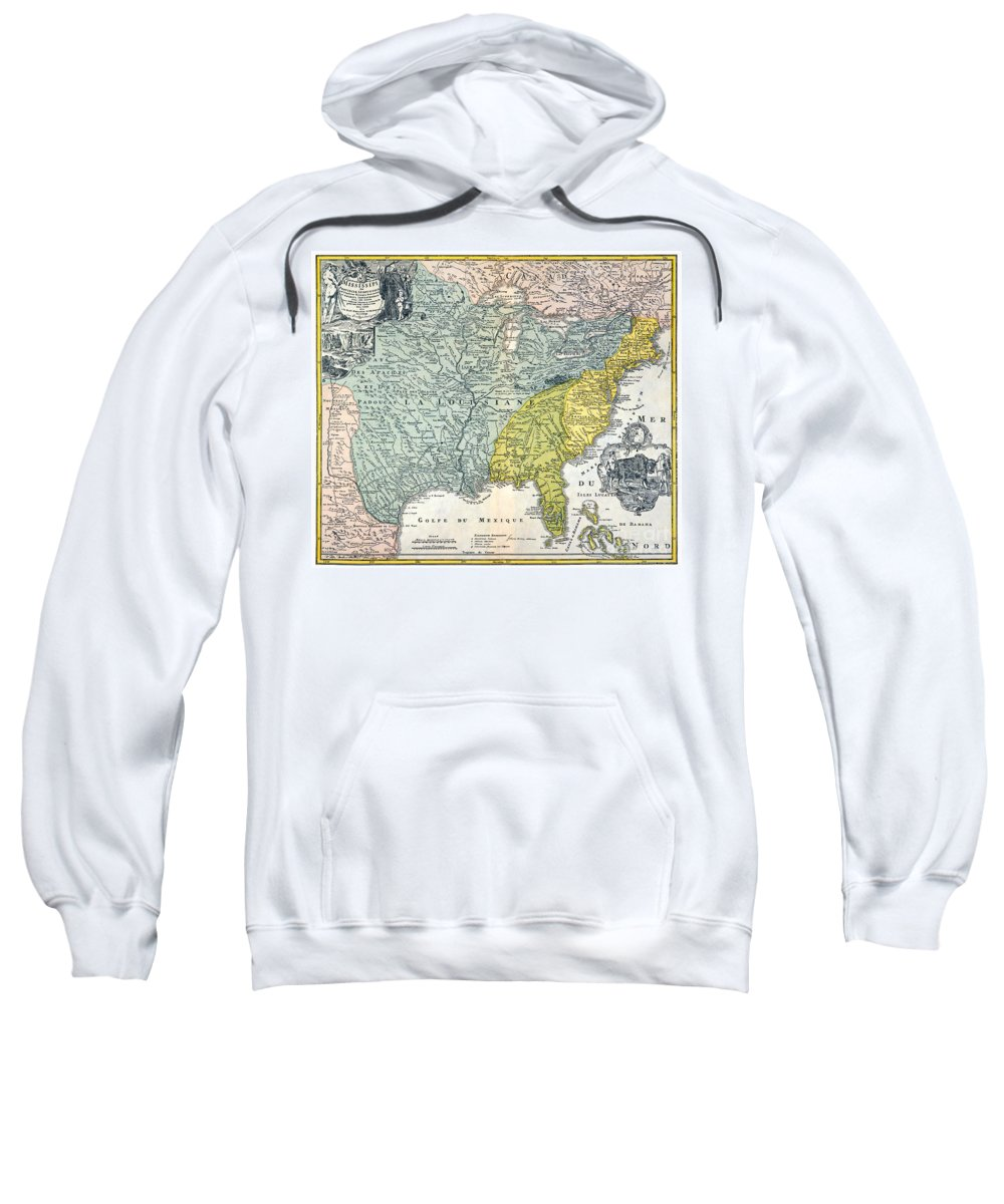 1687 Sweatshirt featuring the photograph Mississippi Region, 1687 by Granger