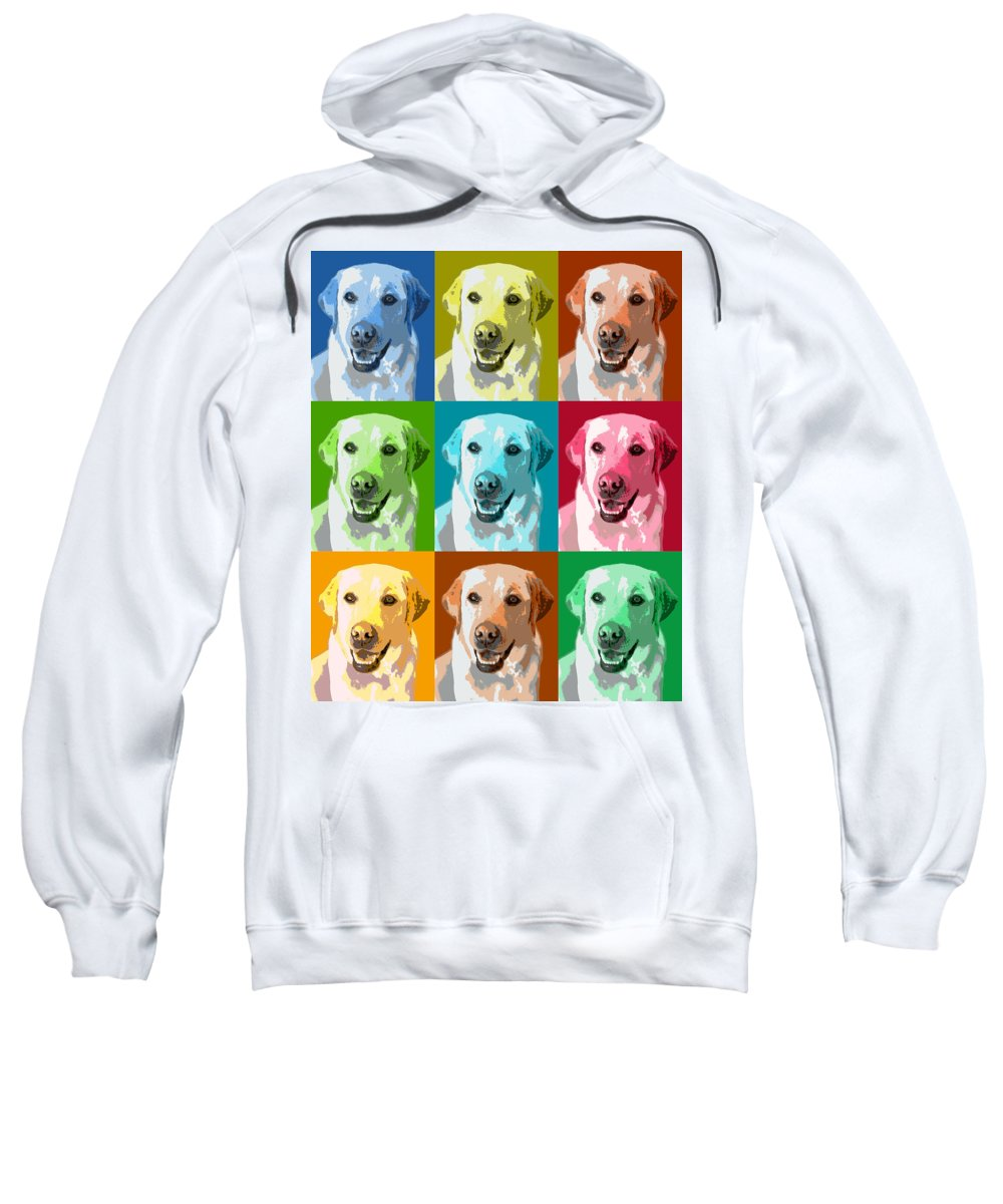 Americana Sweatshirt featuring the photograph Golden Retriever Warhol by Marilyn Hunt