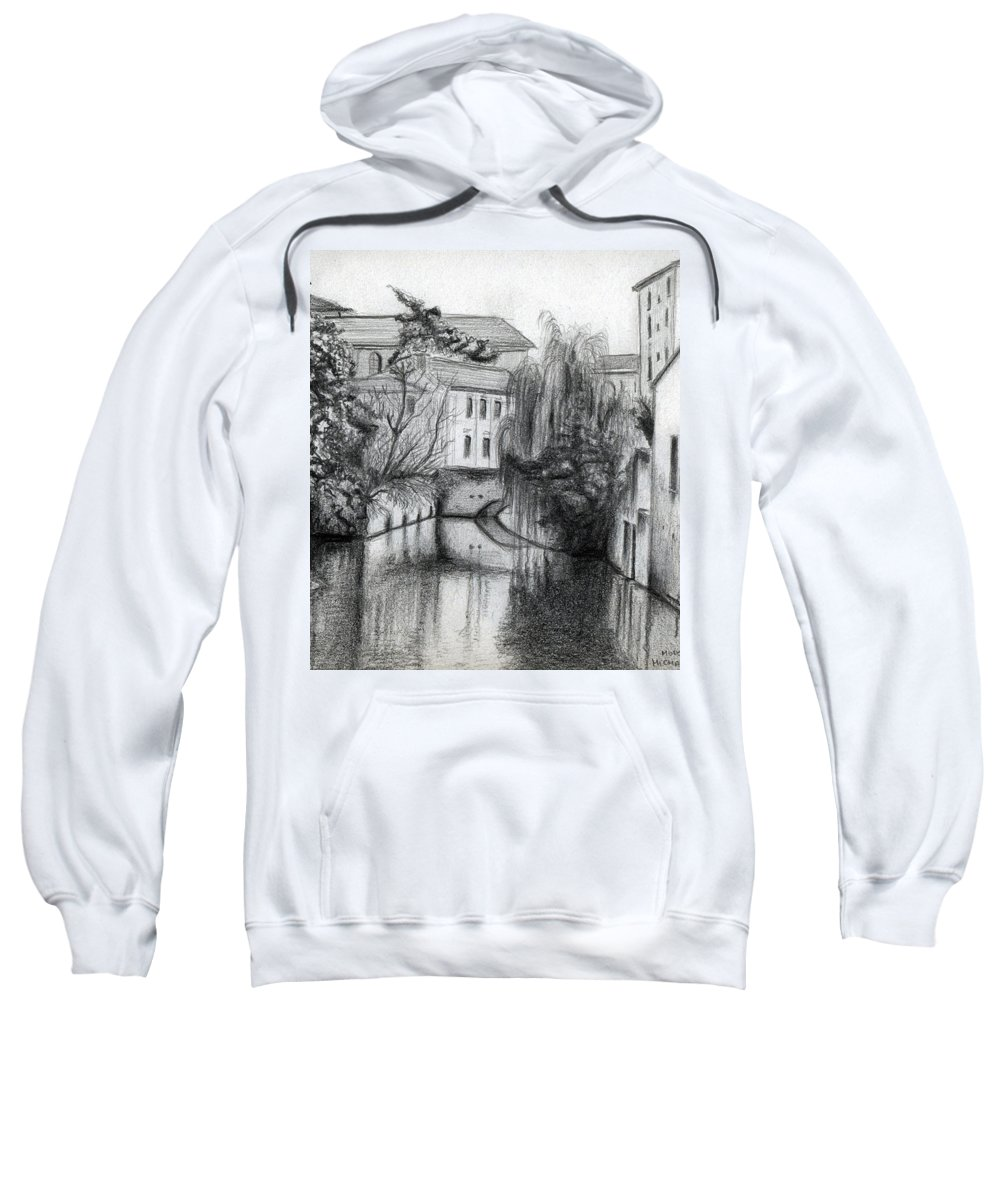 Modena Sweatshirt featuring the drawing Modena Italy by Michael Krief