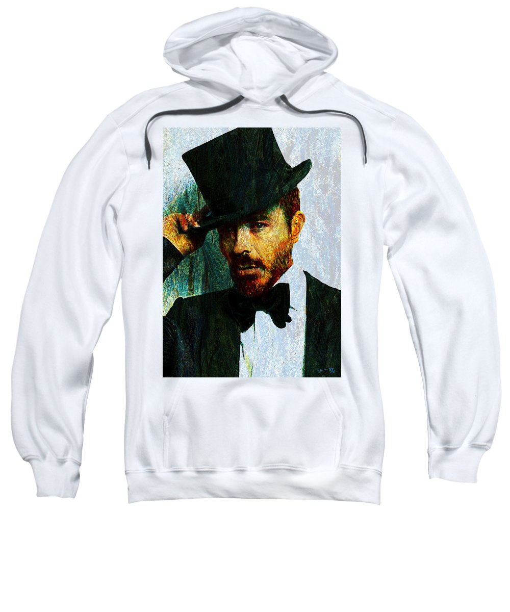 Modern Sweatshirt featuring the drawing Modern Van Gogh Xiii by Jose A Gonzalez Jr